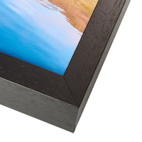 Acrylic Box Frame - Black Corner Close Up