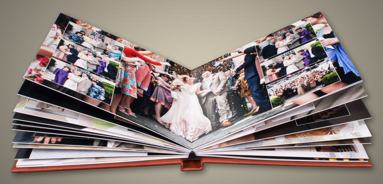 Clay Acrylic Ice Panoramic Wedding Album - Large