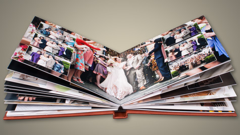 Clay Acrylic Ice Panoramic Wedding Album