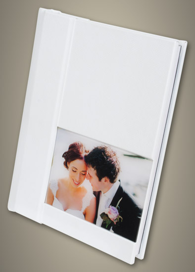 White Acrylic Ice Panoramic Wedding Album - Large