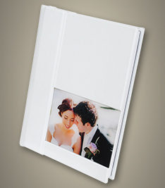 White Acrylic Ice Panoramic Wedding Album