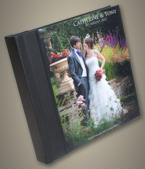 Photo Cover Wedding Album with Black Spine Large