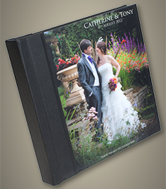 Photo Cover Wedding Album with Black Spine